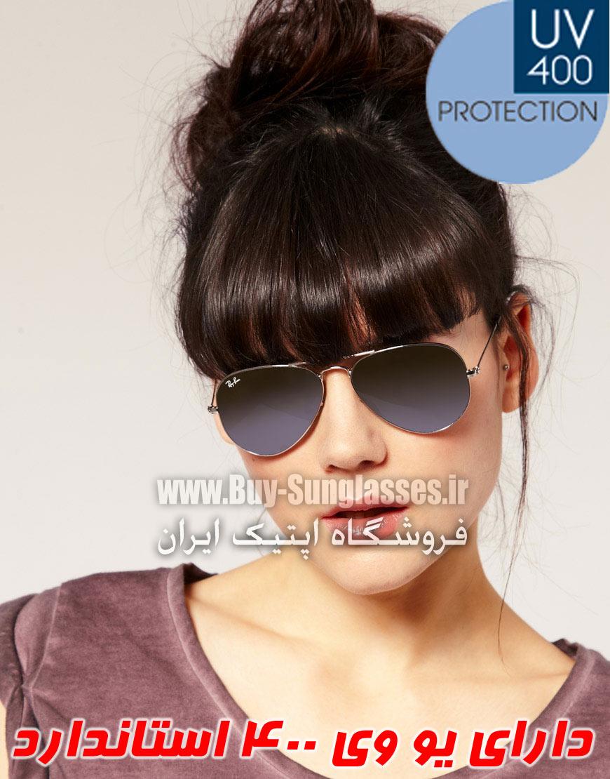 فروش عینک ریبن خلبانی نقره ای